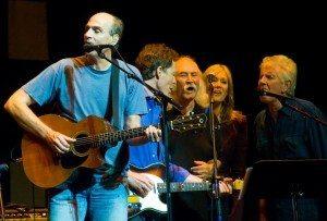 James Taylor, Nick Forster, Steven Crosby, Helen Forster and Graham Nash sing together at eTown Hall.