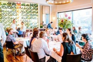a packed dining room at Frasca Food & Wine