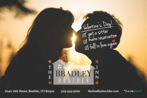 Romantic couple kissing on Valentines at the Bradley