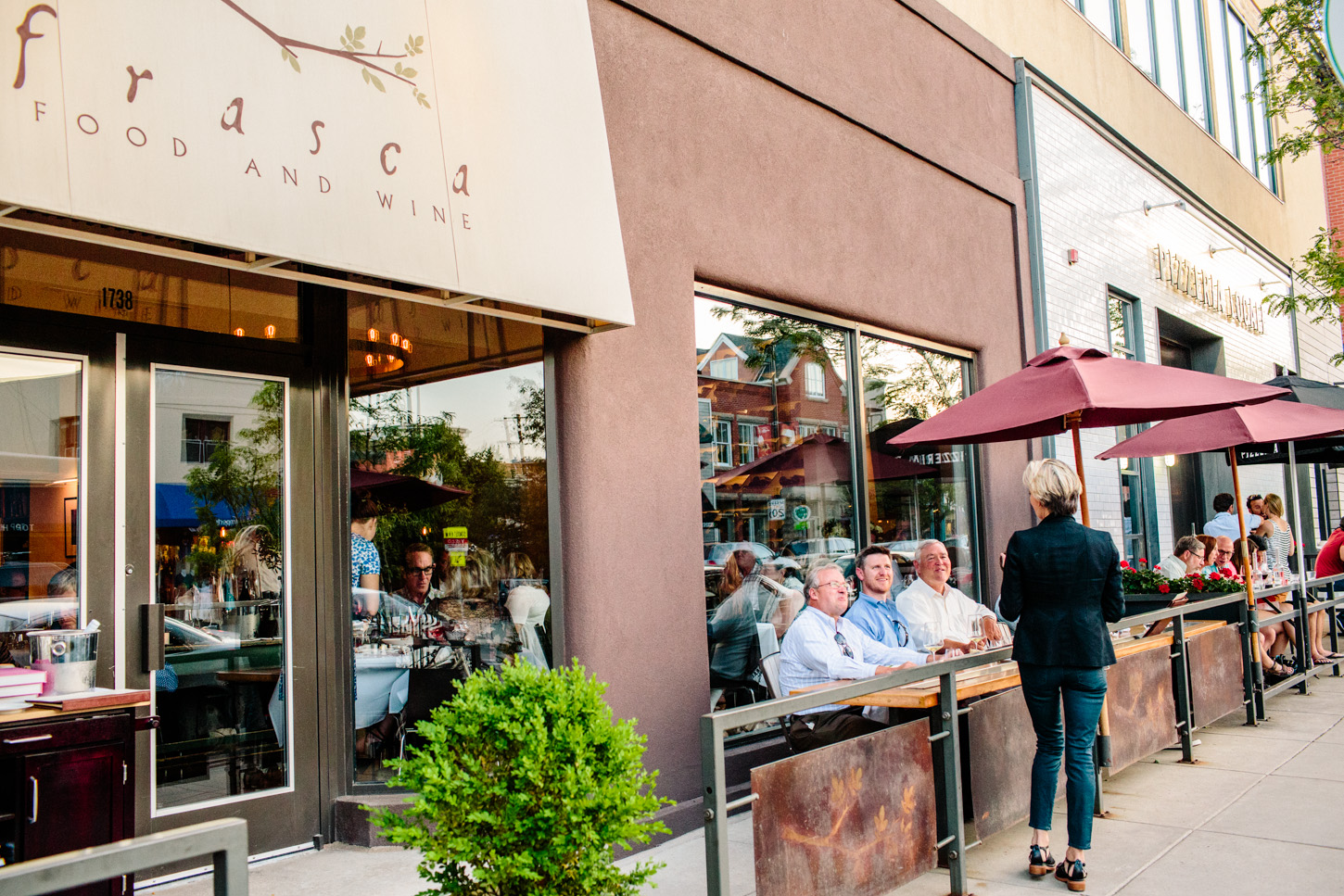 Frasca Food & Wine from the street